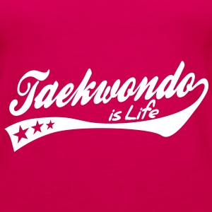 taekwondo is life - retro Tops - Frauen Premium Tank Top