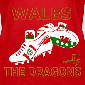 wales football boots white red gold Tops - Women's Premium Tank Top