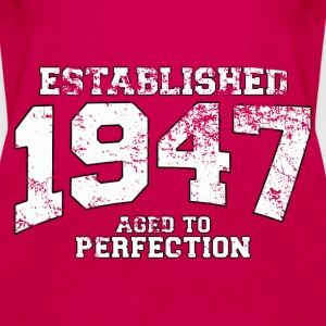 established 1947 - aged to perfection (uk) Tops - Women's Premium Tank Top