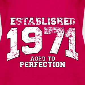 established 1971 - aged to perfection (uk) Tops - Women's Premium Tank Top