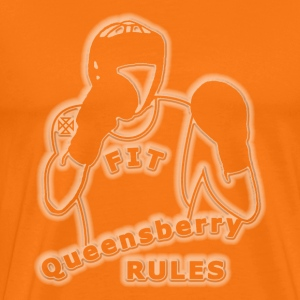 boxing queensberry white glo effect T-Shirts - Men's Premium T-Shirt