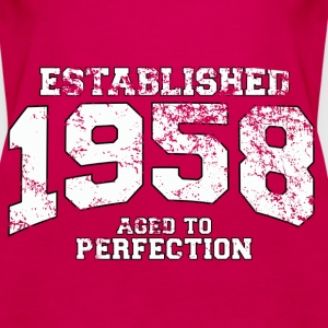 established 1958 - aged to perfection (uk) Tops - Women's Premium Tank Top
