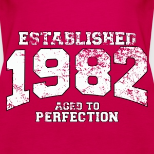 established 1982 - aged to perfection (uk) Tops - Women's Premium Tank Top