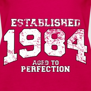 established 1984 - aged to perfection (uk) Tops - Women's Premium Tank Top