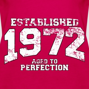 established 1972 - aged to perfection (uk) Tops - Women's Premium Tank Top