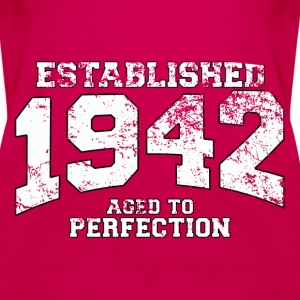 established 1942 - aged to perfection (uk) Tops - Women's Premium Tank Top