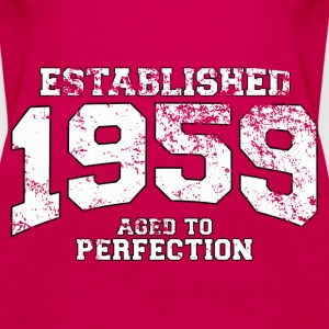 established 1959 - aged to perfection (uk) Tops - Women's Premium Tank Top
