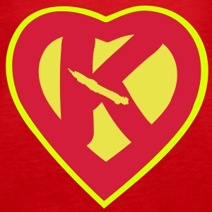 super heart kanak Tops - Women's Premium Tank Top
