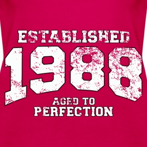 established 1988 - aged to perfection (uk) Tops - Women's Premium Tank Top
