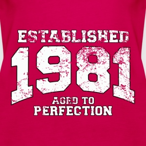 established 1981 - aged to perfection (fr) Débardeurs - Débardeur Premium Femme