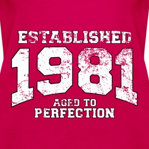 established 1981 - aged to perfection (uk) Tops - Women's Premium Tank Top