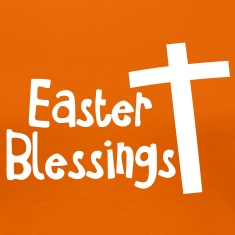 EASTER blessings with a tall cross Jesus Christ T-Shirts