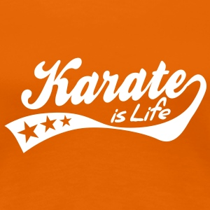 karate is life - retro T-skjorter - Premium T-skjorte for kvinner
