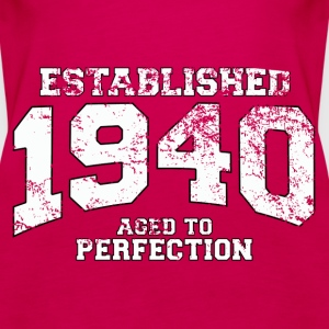 established 1940 - aged to perfection (uk) Tops - Women's Premium Tank Top