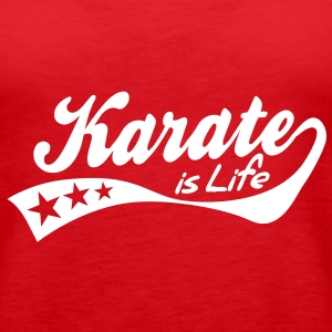 karate is life - retro Tops - Vrouwen Premium tank top