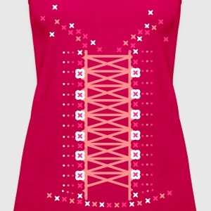 bodice look Tops - Women's Premium Tank Top