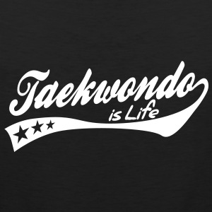 taekwondo is life - retro Camisetas - Tank top premium hombre