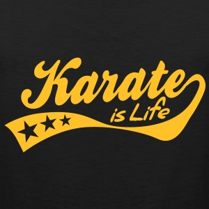 karate is life - retro T-Shirts - Men's Premium Tank Top
