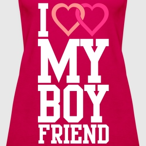 I love my Boyfriend Tops - Women's Premium Tank Top