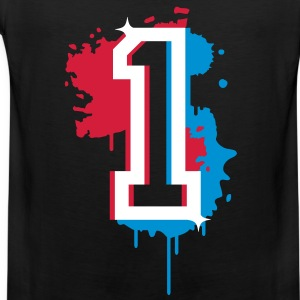 The number one as a graffiti T-Shirts - Men's Premium Tank Top