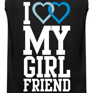 I love my Girlfriend T-Shirts - Men's Premium Tank Top