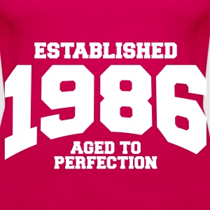 aged to perfection established 1986 (sv) Toppar - Premiumtanktopp dam