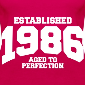 aged to perfection established 1986 (uk) Tops - Women's Premium Tank Top