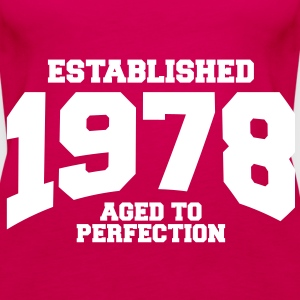 aged to perfection established 1978 (sv) Toppar - Premiumtanktopp dam