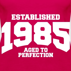 aged to perfection established 1985 (sv) Toppar - Premiumtanktopp dam