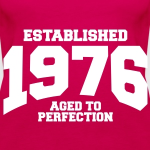 aged to perfection established 1976 (sv) Toppar - Premiumtanktopp dam