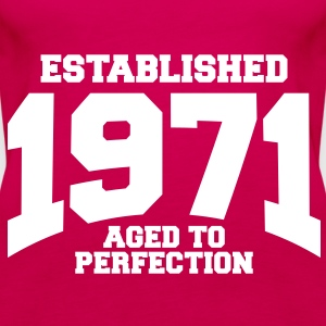 aged to perfection established 1971 (sv) Toppar - Premiumtanktopp dam