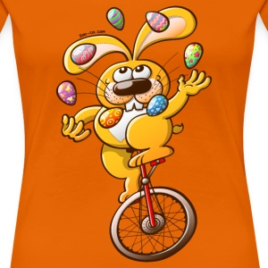 Easter Bunny Juggling Eggs T-Shirts - Women's Premium T-Shirt