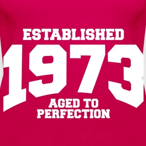 aged to perfection established 1973 (sv) Toppar - Premiumtanktopp dam