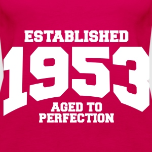 aged to perfection established 1953 (sv) Toppar - Premiumtanktopp dam