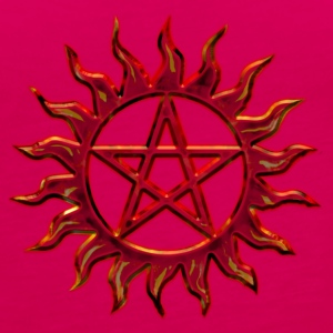 Pentagram - Blazing Star- Sign of intellectual omnipotence and autocracy. digital red, Star of the Magi , powerful symbol of protection Tops - Women's Premium Tank Top