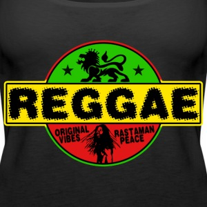 reggae original vibes rasta peace Tops - Women's Premium Tank Top
