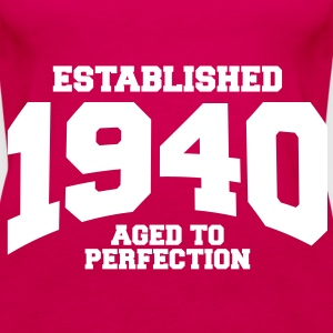 aged to perfection established 1940 (uk) Tops - Women's Premium Tank Top