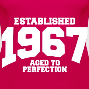 aged to perfection established 1967 (sv) Toppar - Premiumtanktopp dam