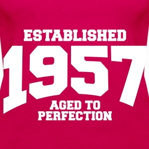 aged to perfection established 1957 (it) Top - Canotta premium da donna