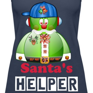 Elf Helper for Father Christmas Santa - Women's Premium Tank Top