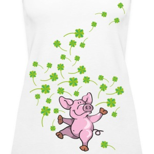 Little pig in good luck Tops - Women's Premium Tank Top