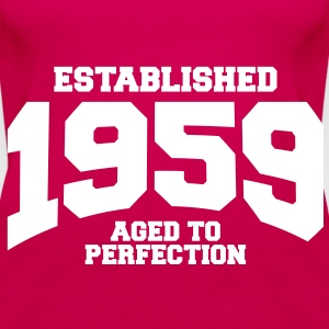 aged to perfection established 1959 (sv) Toppar - Premiumtanktopp dam