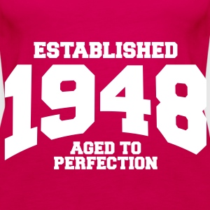 aged to perfection established 1948 (sv) Toppar - Premiumtanktopp dam
