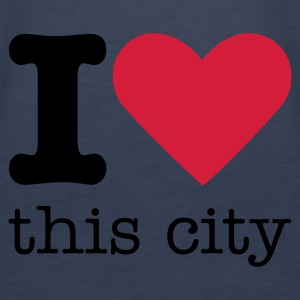 I Love This City Tops - Women's Premium Tank Top