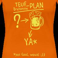 Motif ~ Tee shirt humour breton teuf plan c2b