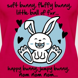 soft bunny, fluffy bunny, little ball of fur... Tops - Women's Premium Tank Top