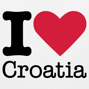 I Love Croatia T-shirts - Mannen Premium tank top