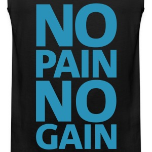 No pain | Mens Sleeveless - Men's Premium Tank Top