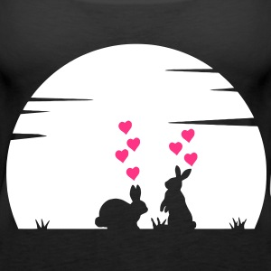 Lovely Bunny's Big Love and Moonshine Tops - Women's Premium Tank Top