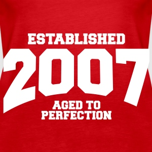 aged to perfection established 2007 (sv) Toppar - Premiumtanktopp dam